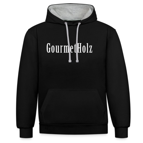 gourmetholz pf - Kontrast-Hoodie