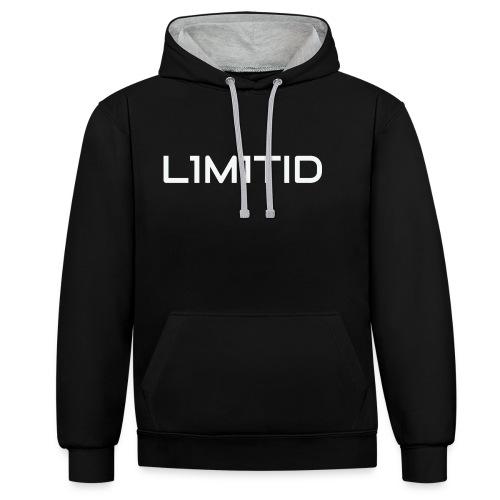 L1M1TID Official Tee - Kontrast-hettegenser