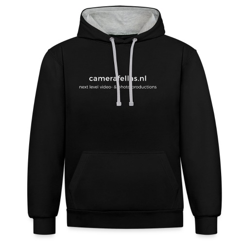 back 2 png - Contrast hoodie