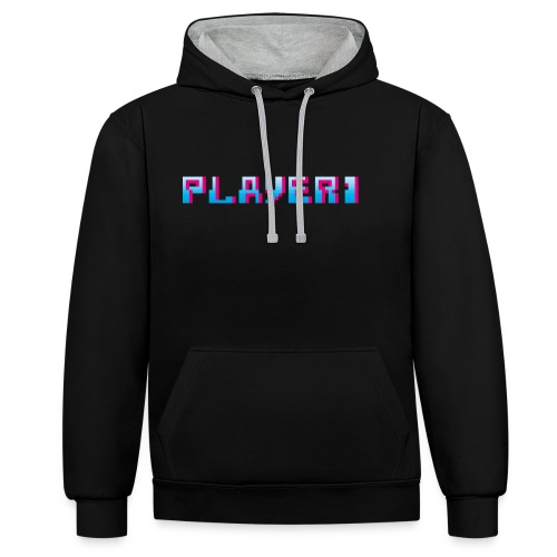 Arcade Game - Player 1 - Contrast Colour Hoodie