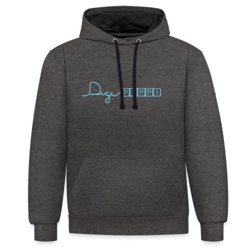 DP Logo Blue - Kontrast-hættetrøje