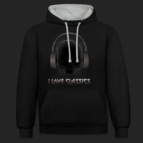 I love classics Black - Sweat-shirt contraste