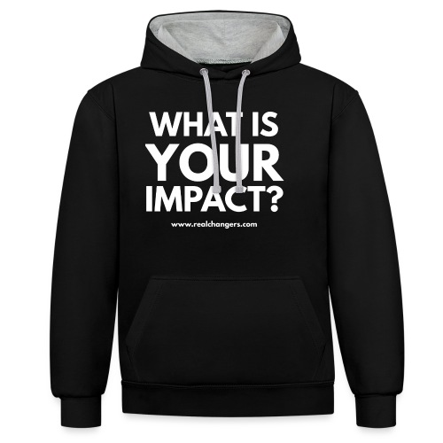 whatisyourimpact - Contrast Colour Hoodie