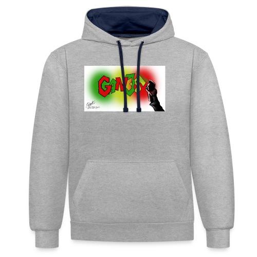 Ganja - Kontrast-hættetrøje