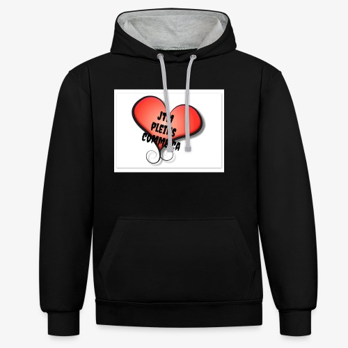 saint valentin coeur amour - Sweat-shirt contraste