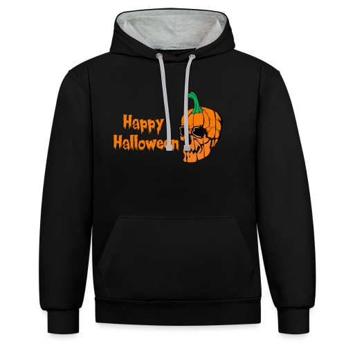 Happy Halloween - Contrast Colour Hoodie