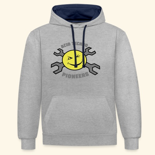 ACID TECHNO PIONEERS - SILVER EDITION - Contrast Colour Hoodie