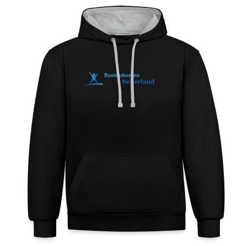 Logo Basisinkomen Nederland 2 - Contrast hoodie