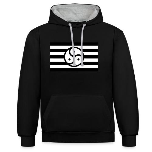 Frauen/Herrinnen T-Shirt BDSM Flagge SW - Kontrast-Hoodie