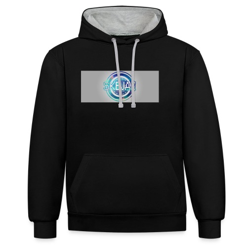 LOGO WITH BACKGROUND - Contrast Colour Hoodie