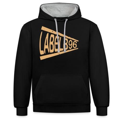Label - Kontrast-Hoodie