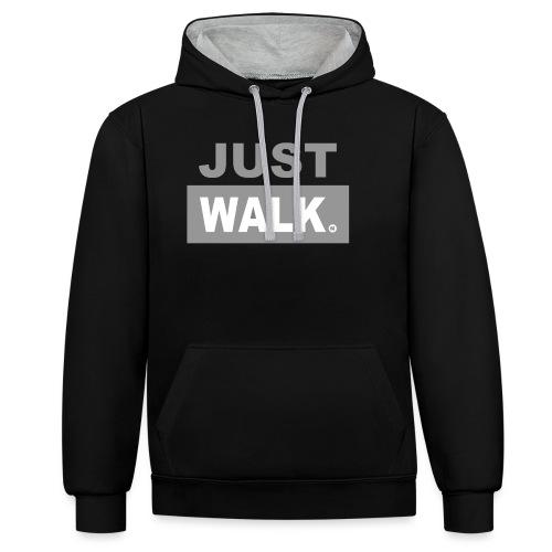 JUST WALK vrouw grijs ls - Contrast hoodie