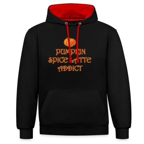 PumpkinSpiceAddict - Felpa con cappuccio bicromatica