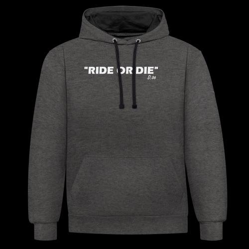 Ride or die (blanc) - Sweat-shirt contraste
