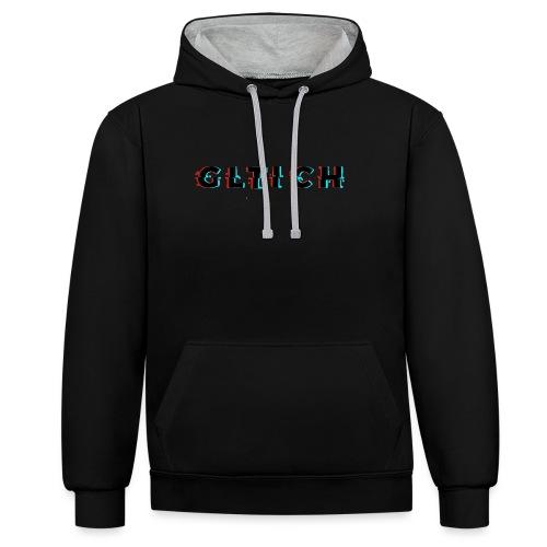 Glitch - Contrast Colour Hoodie