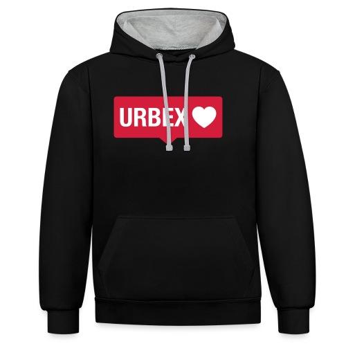 URBEX-Herz-Insta-Bubble - Kontrast-Hoodie