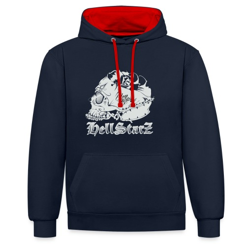 HELLSTARZ Skull Logo - Sweat-shirt contraste