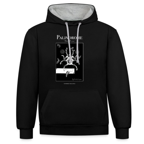 ~ PALINDROME ~ In perfect balance - Contrast hoodie