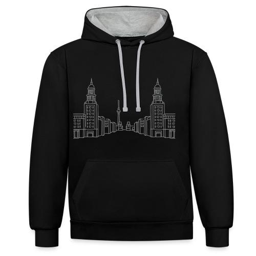 Frankfurter Tor Berlin - Kontrast-Hoodie