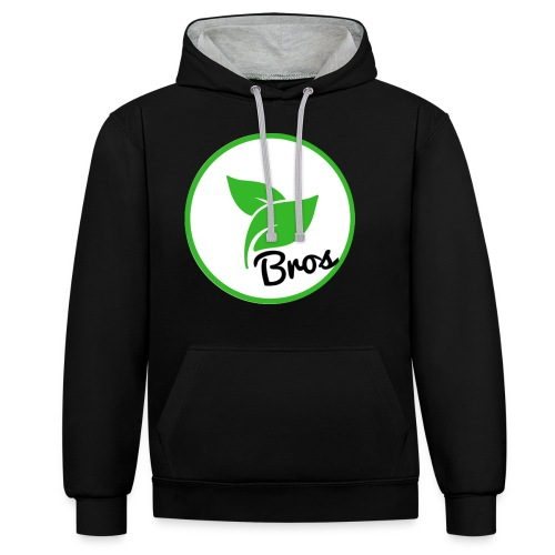 Twin Bros (Large Logo) - Contrast Colour Hoodie