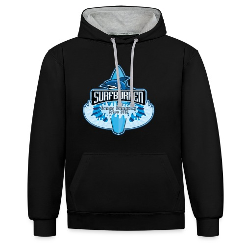 surfboard v2 png - Contrast Colour Hoodie