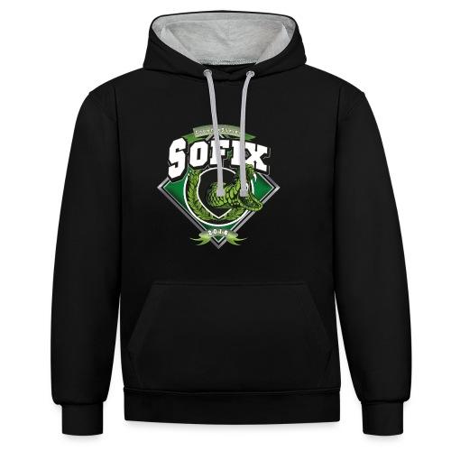 SoFixCS de Logo - Kontrast-Hoodie