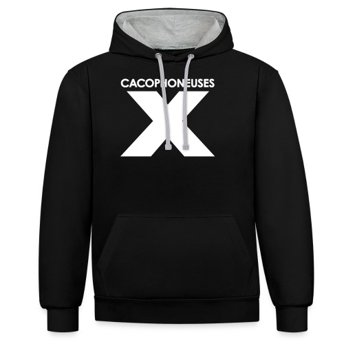 Xcacoblanc gif - Contrast Colour Hoodie