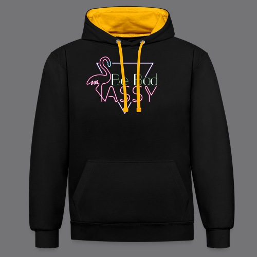 BE BAD ASSY t-shirts - Contrast Colour Hoodie