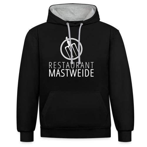 Logo Mastweide cmyk white HQ - Kontrast-Hoodie