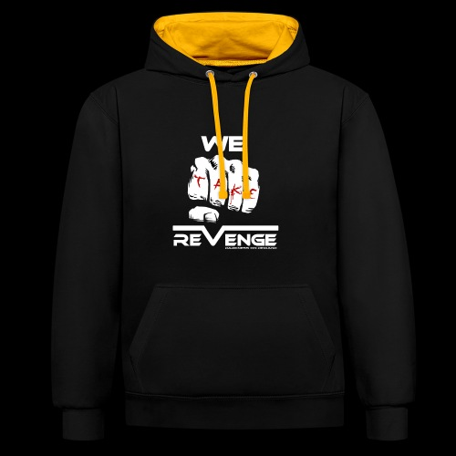 Darkness on Demand - We Take Revenge - Kontrast-Hoodie