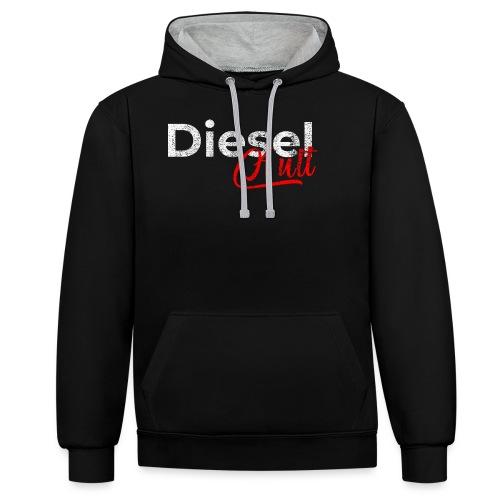 Dieselkult by Dieselholics I Für Diesel Freunde - Kontrast-Hoodie