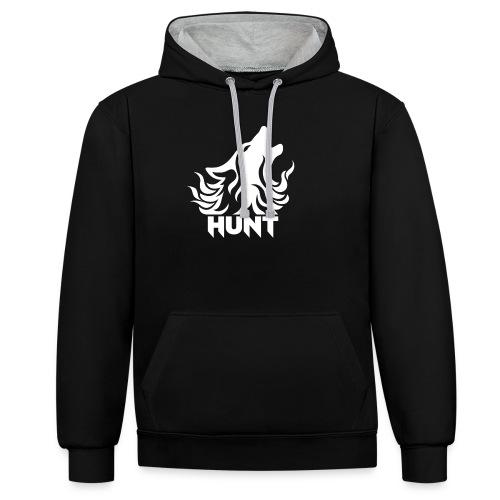 Hunt - Kontrast-Hoodie