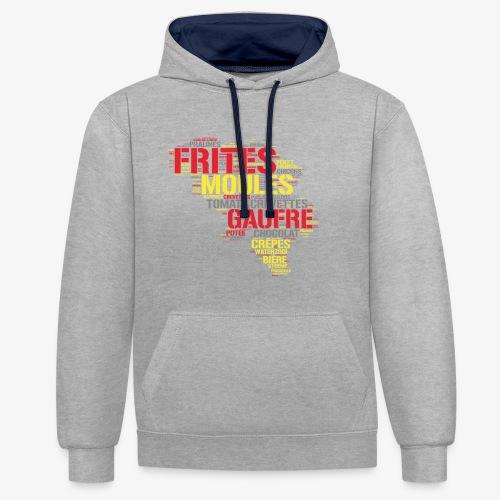 Belgium FR 3 couleurs - Sweat-shirt contraste
