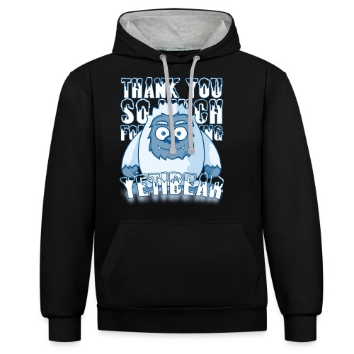 Yeti Design - Contrast hoodie