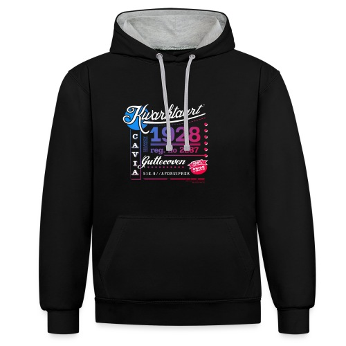 Kwarktaart - Contrast hoodie