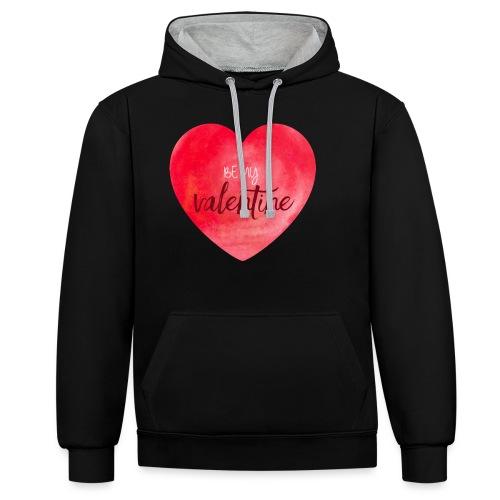 Cœur st.valentin - Sweat-shirt contraste