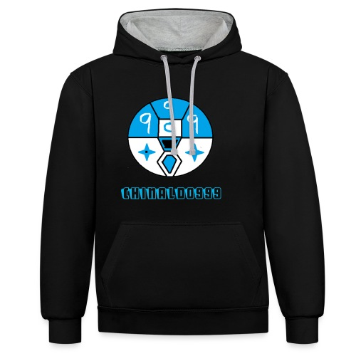 merchandice blue copy - Contrast Colour Hoodie