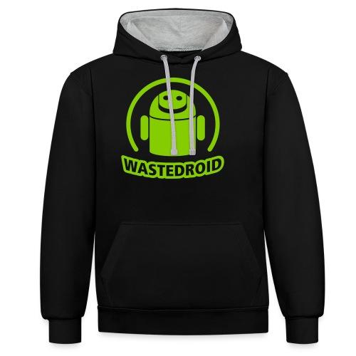 Wastedroid - Kontrast-Hoodie