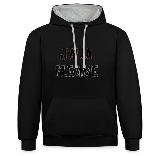 J'ai la FLEMME - Sweat-shirt contraste