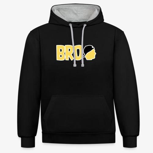 BRO - Kontrast-hættetrøje