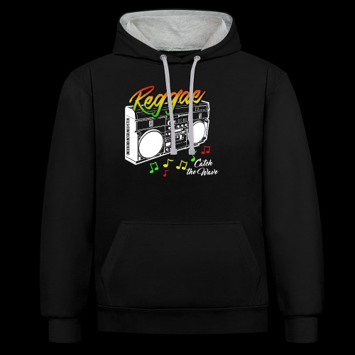Reggae - Catch the Wave - Kontrast-Hoodie