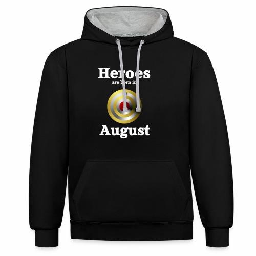 August - Kontrast-Hoodie
