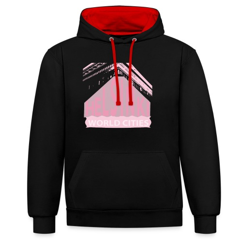 Helsinki light pink - Contrast Colour Hoodie