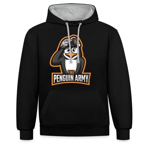 The Penguin Army Logo - Kontrast-Hoodie