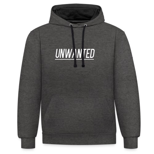 UNWANTED Logo Tee White - Contrast Colour Hoodie