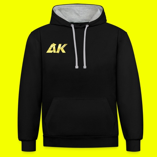 AK Logo - Contrast Colour Hoodie