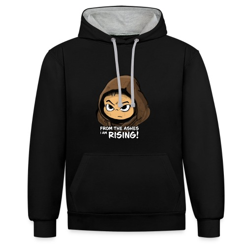 Joan Ferguson From the Ashes I Am Rising! - Contrast Colour Hoodie
