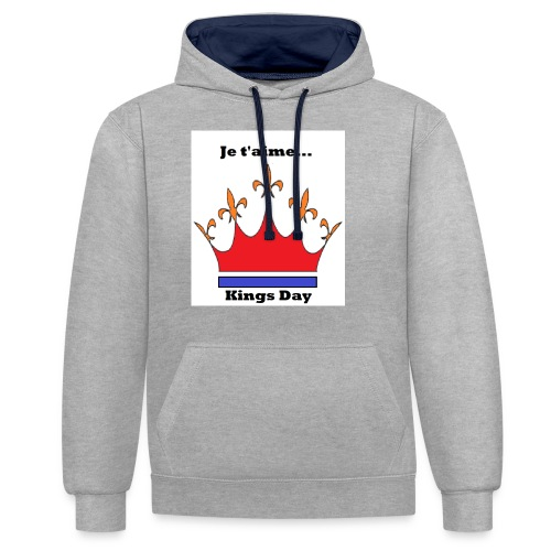 Je taime Kings Day (Je suis...) - Contrast hoodie