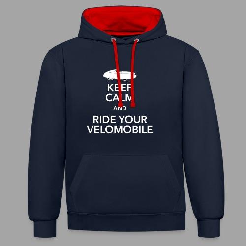 Keep calm and ride your velomobile white - Kontrastihuppari