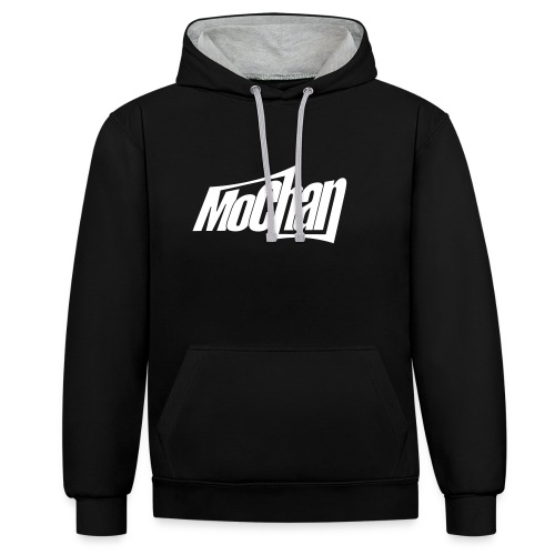 MoChan Logo Persp - Contrast Colour Hoodie